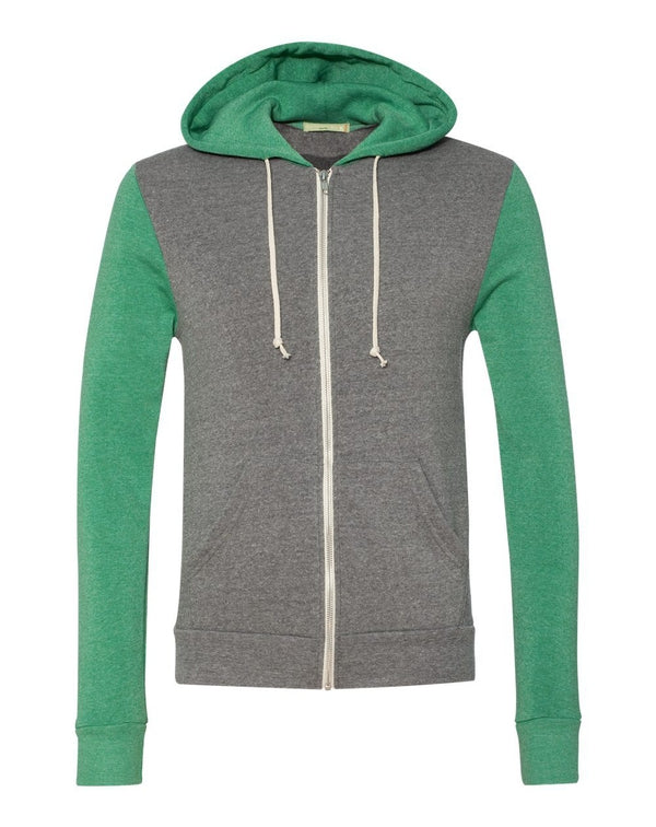 Rocky Unisex Colorblocked Eco-Fleece Hooded Full-Zip-Alternative Apparel-Pacific Brandwear