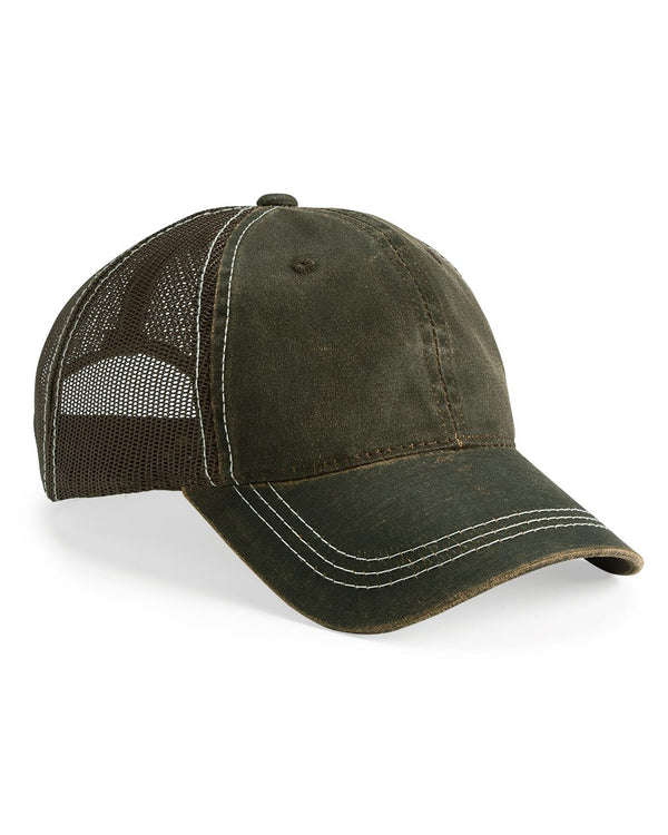 Weathered Mesh-Back Cap-Outdoor Cap-Pacific Brandwear