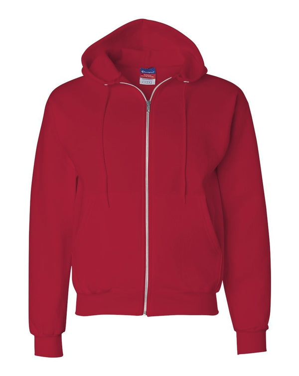 Double Dry Eco Full-Zip Hooded Sweatshirt-Champion-Pacific Brandwear
