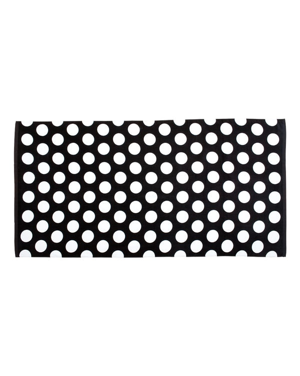 Polka Dot Velour Beach Towel-Carmel Towel Company-Pacific Brandwear
