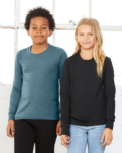Youth Jersey Long sleeve Tee-BELLA + CANVAS-Pacific Brandwear