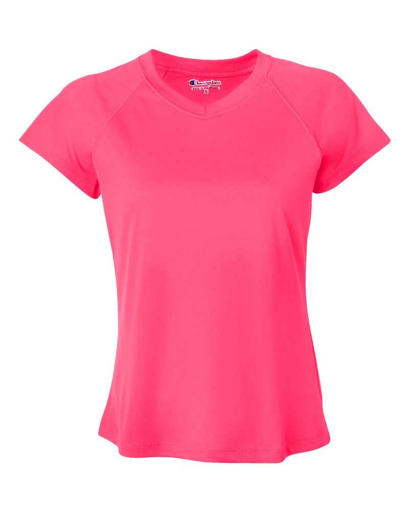 Double Dry Women's V-Neck Performance T-Shirt-Champion-Pacific Brandwear
