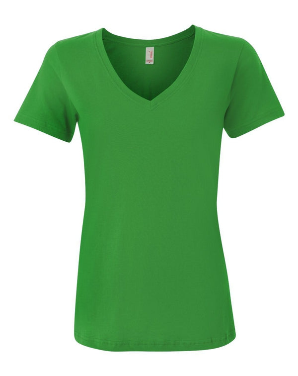 Women's Featherweight V-Neck T-Shirt-Anvil-Pacific Brandwear