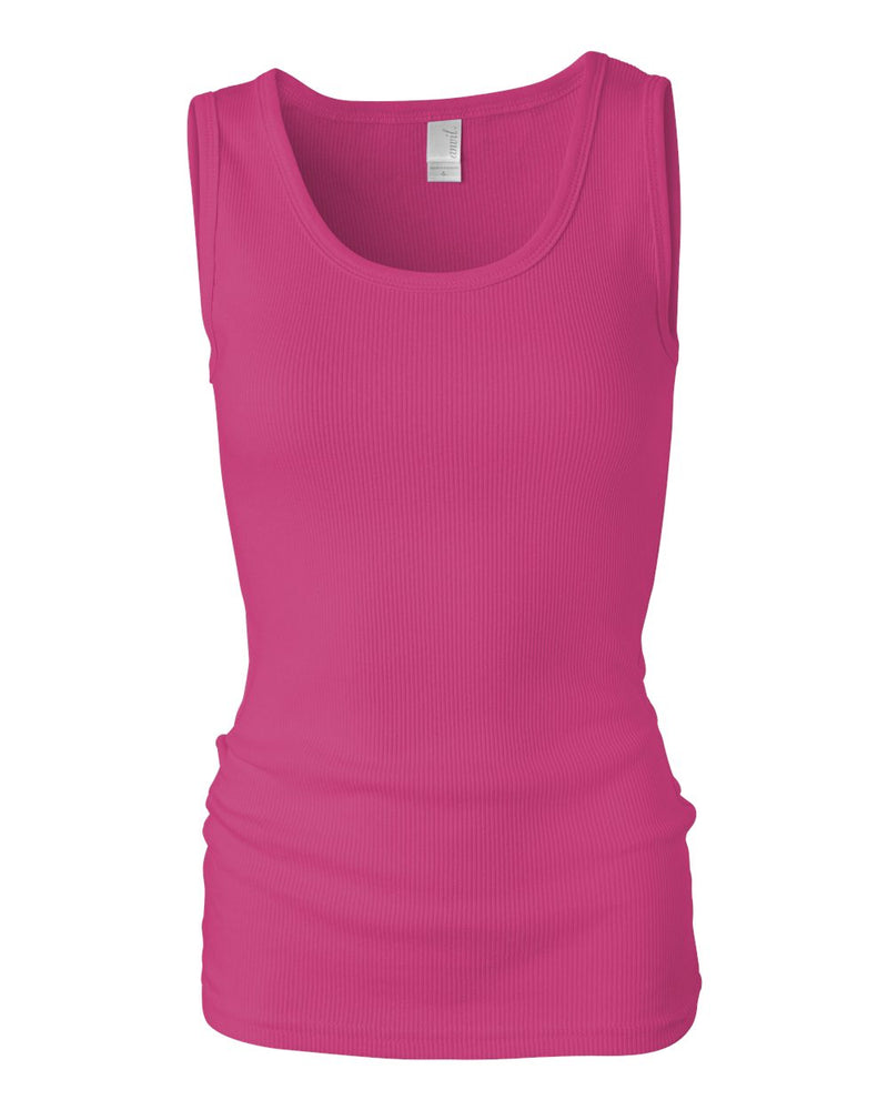 Women's 2_1 Rib Tank Top-Anvil-Pacific Brandwear