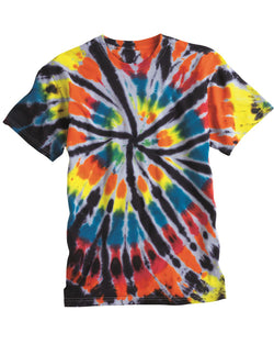 Short sleeve Rainbow Cut-Spiral T-Shirt-Dyenomite-Pacific Brandwear