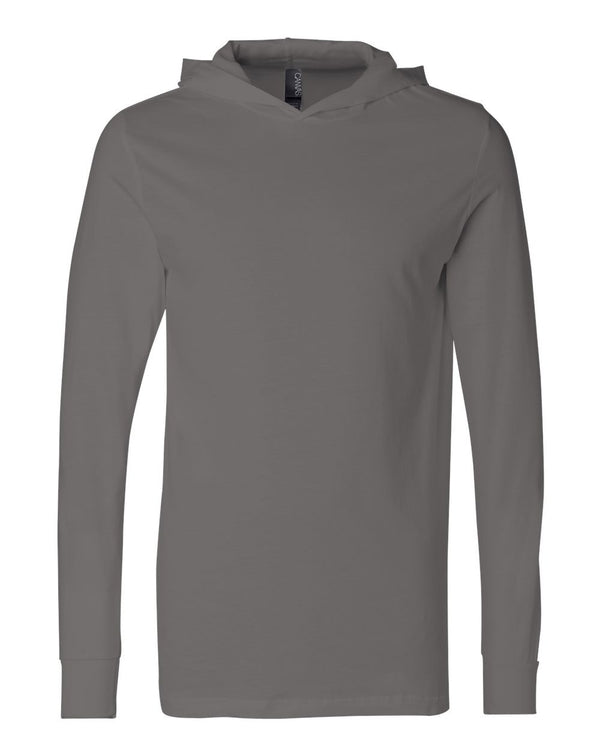 Unisex Jersey Hooded Long sleeve Tee-BELLA + CANVAS-Pacific Brandwear