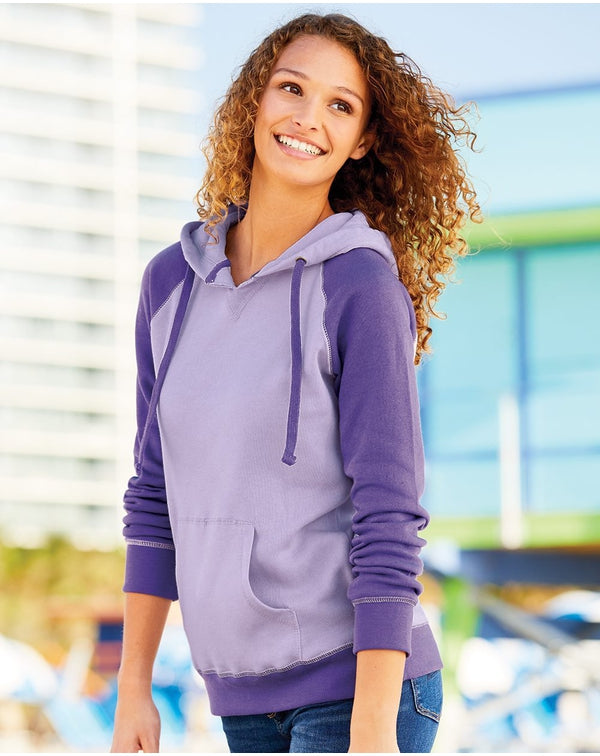 Women's Harper Raglan Hooded Sweatshirt-MV Sport-Pacific Brandwear