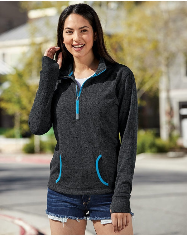 Women's Cosmic Fleece Quarter-Zip Pullover-J. America-Pacific Brandwear