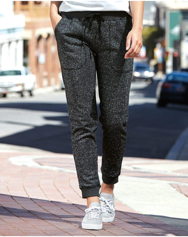 Women's Glitter French Terry Fleece Joggers-J. America-Pacific Brandwear