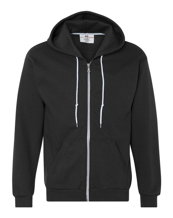 Full-Zip Hooded Sweatshirt-Anvil-Pacific Brandwear