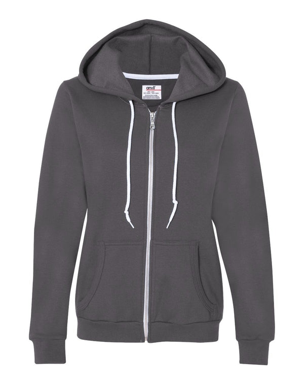 Women's Full-Zip Hooded Sweatshirt-Anvil-Pacific Brandwear
