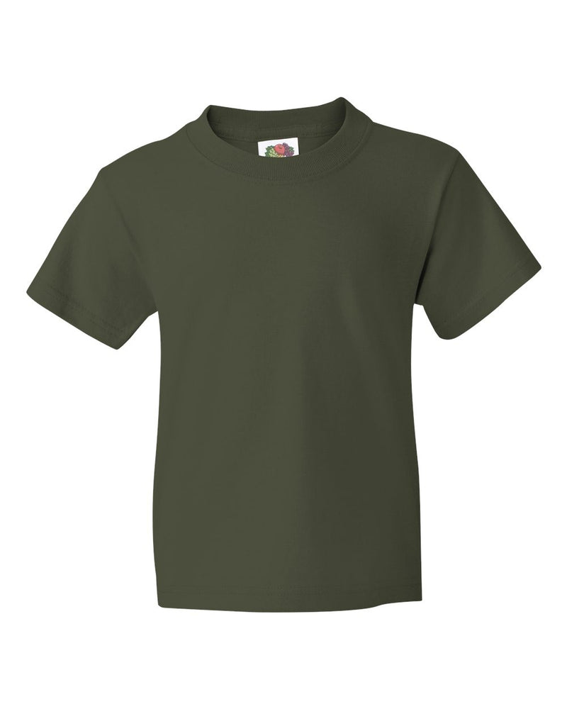 HD Cotton Youth Short sleeve T-Shirt-Fruit of the Loom-Pacific Brandwear