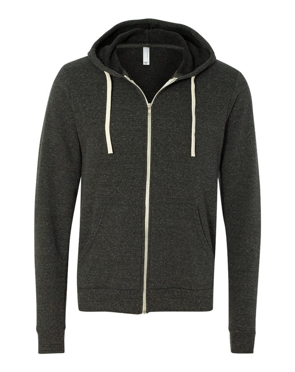 Unisex Triblend Sponge Fleece Full-Zip Hoodie-BELLA + CANVAS-Pacific Brandwear