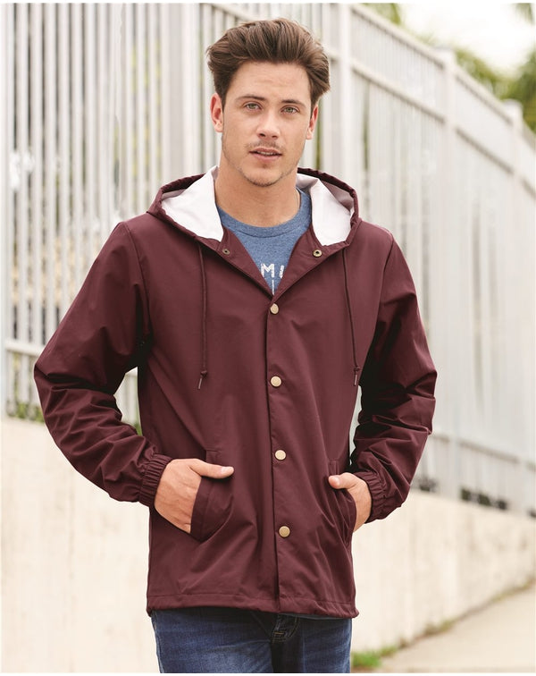 Water-Resistant Hooded Windbreaker-Independent Trading Co.-Pacific Brandwear
