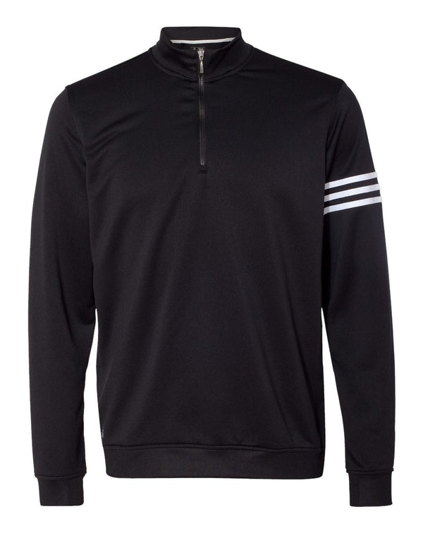 ClimaLite 3-Stripes French Terry Quarter-Zip Pullover-Adidas-Pacific Brandwear