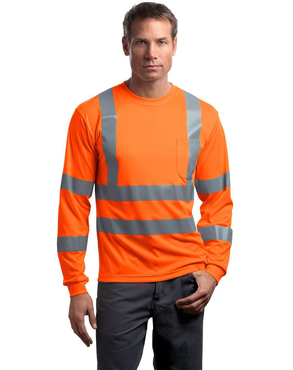 CornerStone® - ANSI 107 Class 3 Long Sleeve Snag-Resistant Reflective T-Shirt-CornerStone-Pacific Brandwear