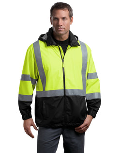 CornerStone® - ANSI 107 Class 3 Safety Windbreaker-CornerStone-Pacific Brandwear