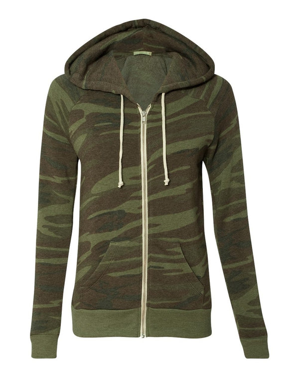 Women's Adrian Eco-Fleece Full-Zip Hooded Sweatshirt-Alternative Apparel-Pacific Brandwear