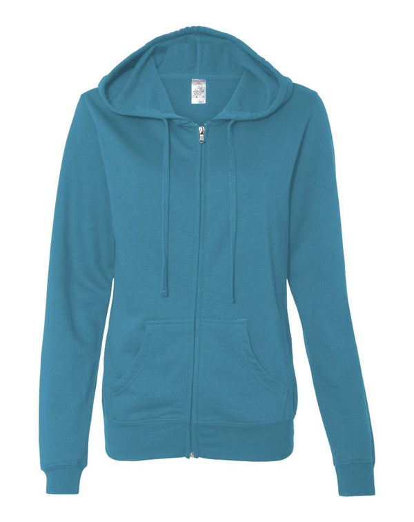 Juniors' Heavenly Fleece Full-Zip Hooded Sweatshirt-Independent Trading Co.-Pacific Brandwear