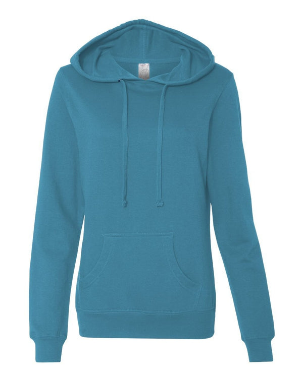Juniors' Heavenly Fleece Lightweight Hooded Sweatshirt-Independent Trading Co.-Pacific Brandwear