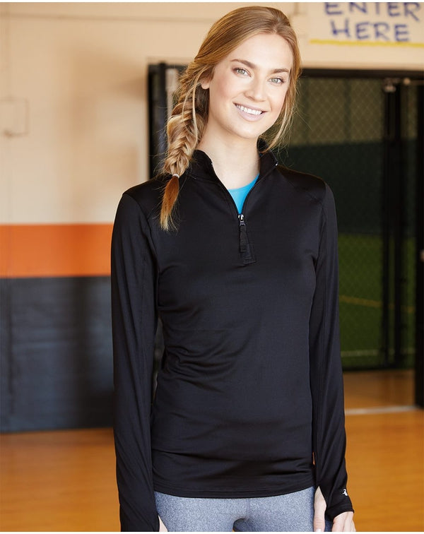 Women's Lightweight Quarter-Zip Pullover-Badger-Pacific Brandwear