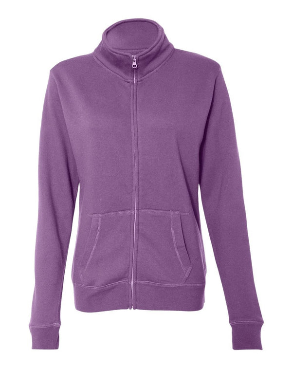 Women's Sueded Fleece Full-Zip Sweatshirt-J. America-Pacific Brandwear