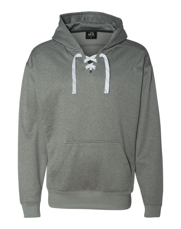 Sport Lace Polyester Fleece Hooded Sweatshirt-J. America-Pacific Brandwear