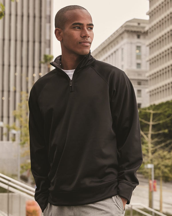 Dri-Power Sport Quarter-Zip Cadet Collar Sweatshirt-JERZEES-Pacific Brandwear