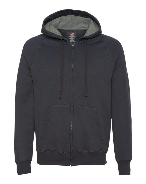 Nano Hooded Full-Zip Sweatshirt-Hanes-Pacific Brandwear