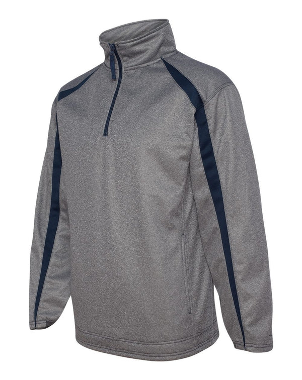 Pro Heather Fusion Performance Fleece Quarter-Zip Pullover-Badger-Pacific Brandwear