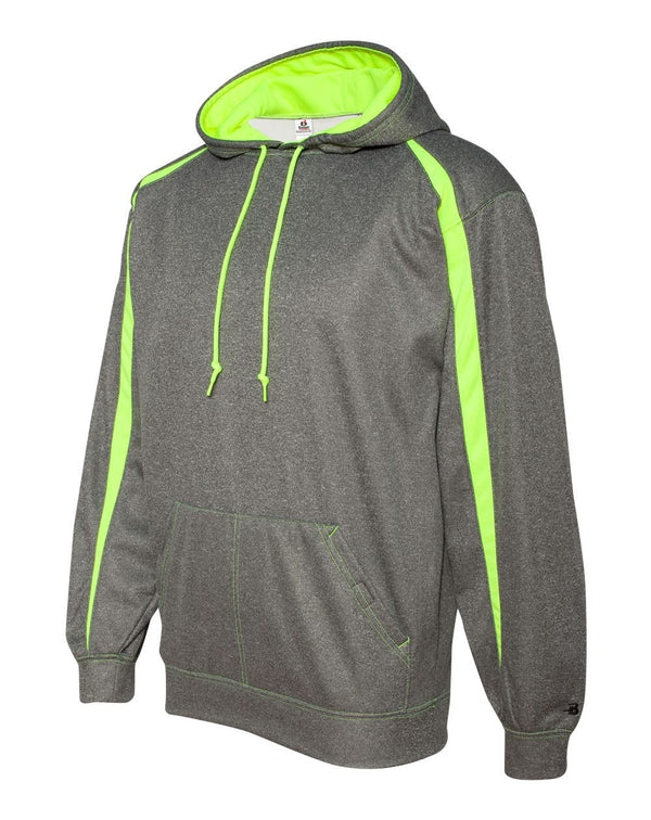 Pro Heather Fusion Performance Fleece Hooded Sweatshirt-Badger-Pacific Brandwear
