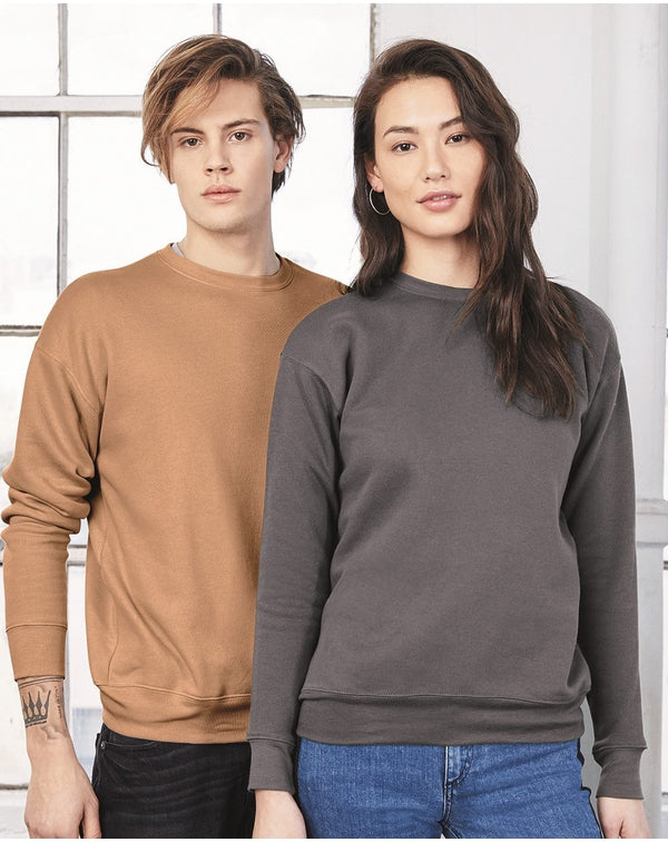 Unisex Sponge Fleece Drop Shoulder Sweatshirt-BELLA + CANVAS-Pacific Brandwear