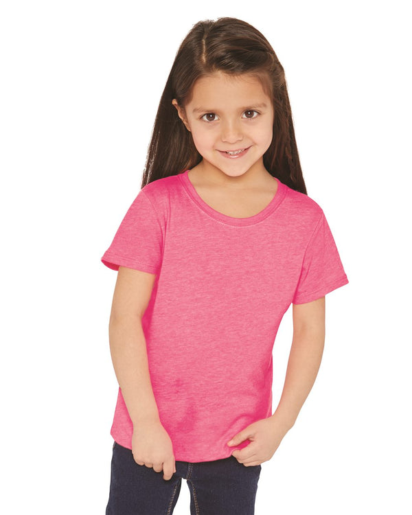 GirlsÍ Princess CVC Short sleeve Crew-Next Level-Pacific Brandwear