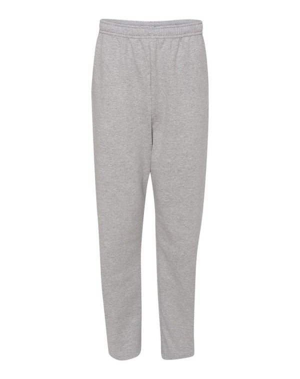 NuBlend Open Bottom Sweatpants with Pockets-JERZEES-Pacific Brandwear