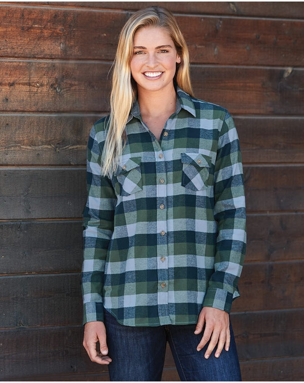 Weatherproof Vintage Women's Brushed Flannel Long Sleeve Shirt-Weatherproof-Pacific Brandwear