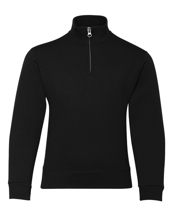 Nublend Youth Quarter-Zip Cadet Collar Sweatshirt-JERZEES-Pacific Brandwear