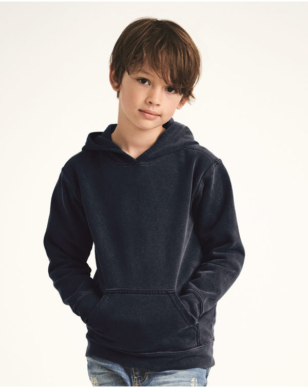Garment-Dyed Youth Hooded SweatShirt-Comfort Colors-Pacific Brandwear