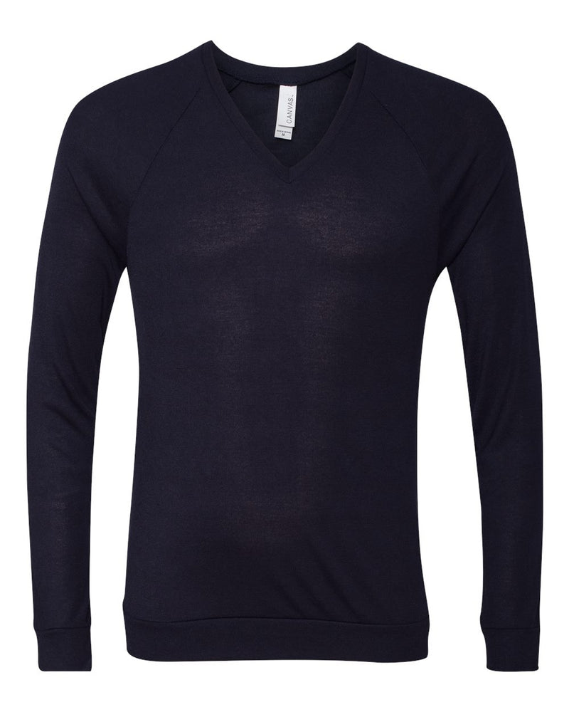 Unisex V-neck Lightweight Sweater-BELLA + CANVAS-Pacific Brandwear