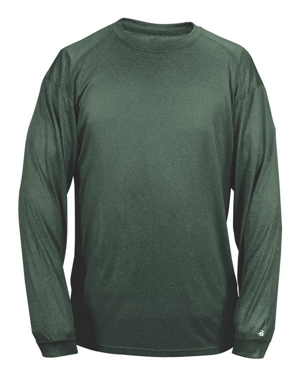 Pro Heather Long sleeve T-Shirt-Badger-Pacific Brandwear