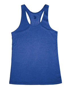Women's Pro Heather Racerback Tank Top-Badger-Pacific Brandwear