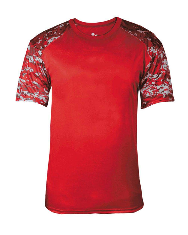 Digital Camo Battle Sport T-Shirt-Badger-Pacific Brandwear