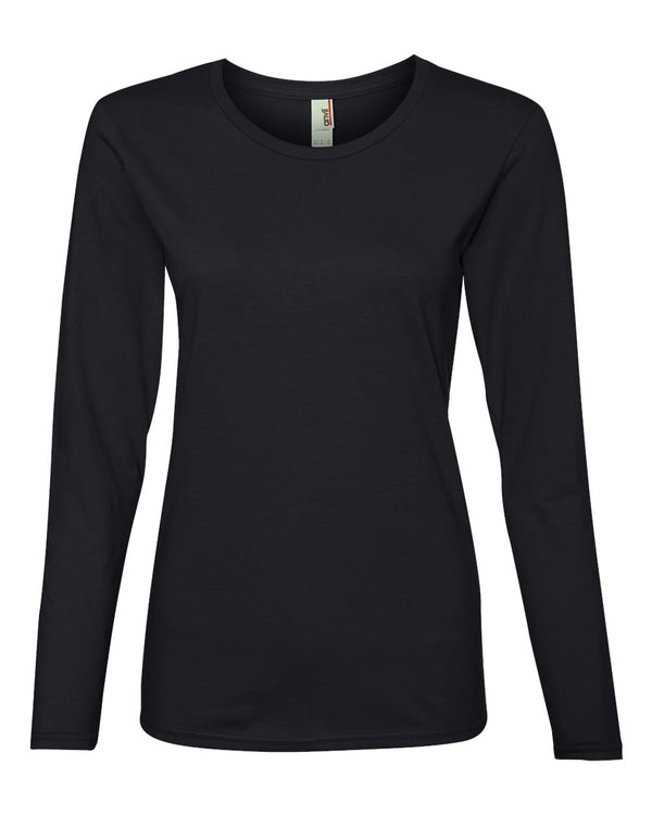 Women's Lightweight Long sleeve T-Shirt-Anvil-Pacific Brandwear