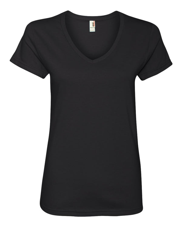 Women's Lightweight V-Neck T-Shirt-Anvil-Pacific Brandwear