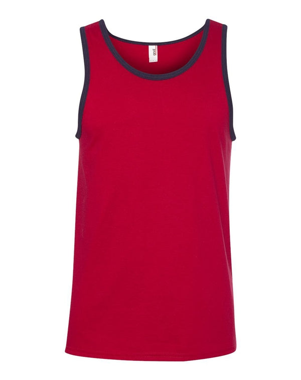 Lightweight Ringer Tank Top-Anvil-Pacific Brandwear