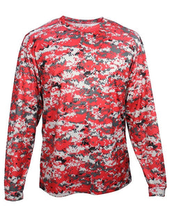 Youth Digital Camo Long sleeve T-Shirt-Badger-Pacific Brandwear