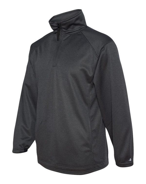Pro Heather Performance Fleece Quarter-Zip Pullover-Badger-Pacific Brandwear