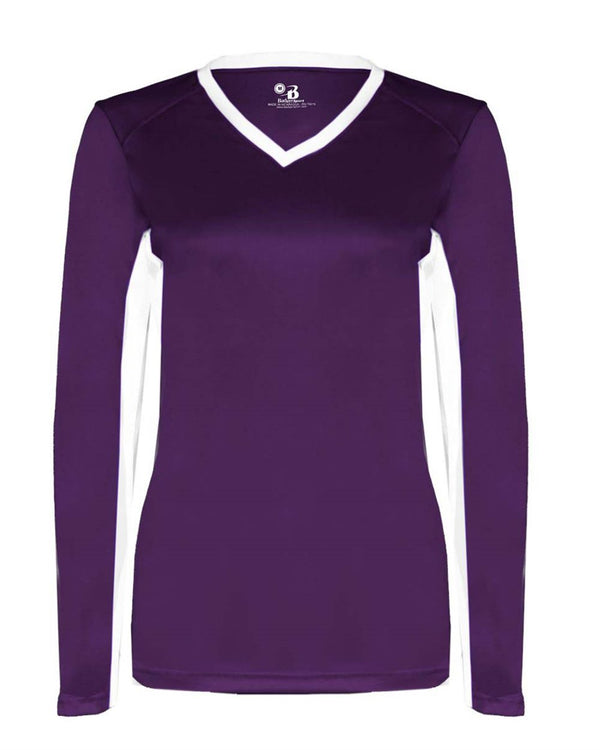 Women's B-Core Dig Long sleeve Jersey-Badger-Pacific Brandwear