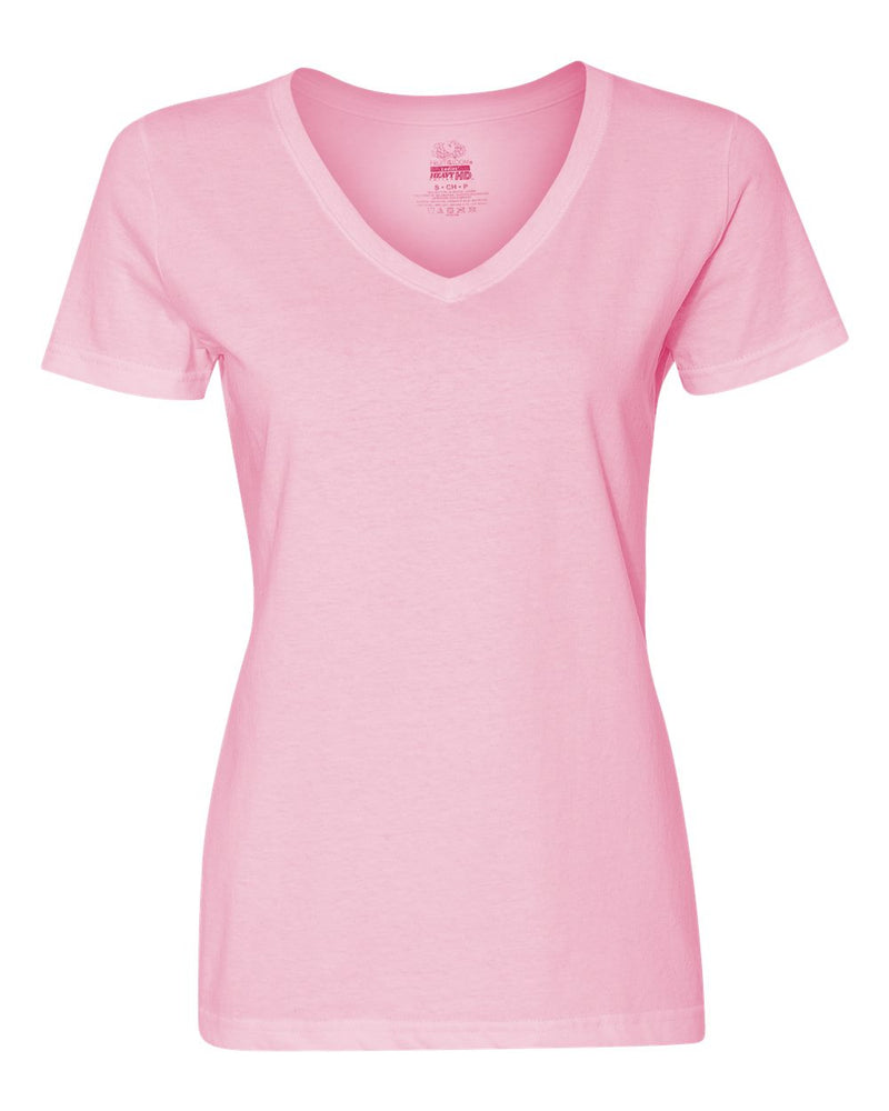 HD Cotton Women's V-Neck T-Shirt-Fruit of the Loom-Pacific Brandwear