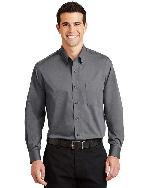 Port Authority® Tonal Pattern Easy Care Shirt-Port Authority-Pacific Brandwear