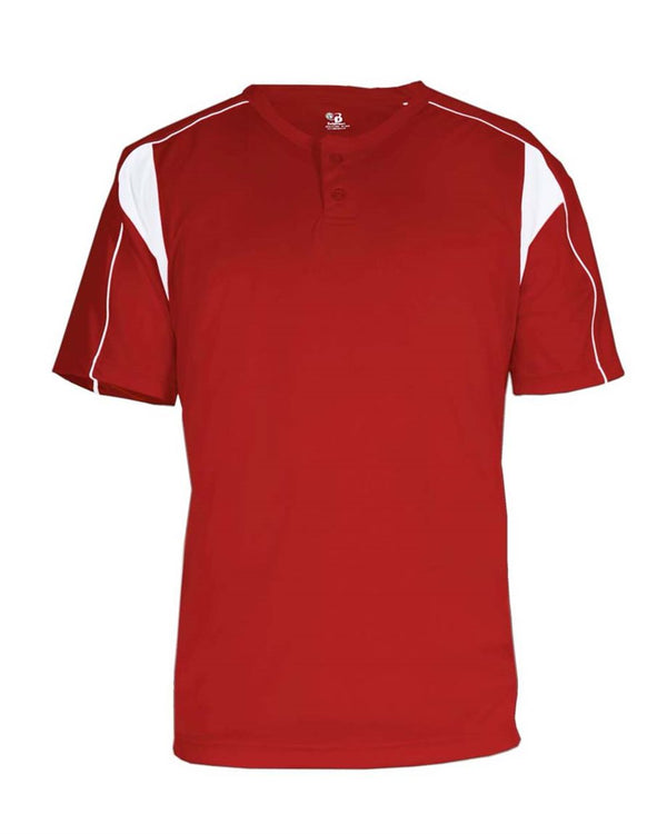 Youth B-Core Pro Placket Jersey-Badger-Pacific Brandwear